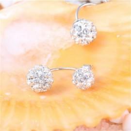 Female Fashion Minimalist Princess Diamond Earrings
