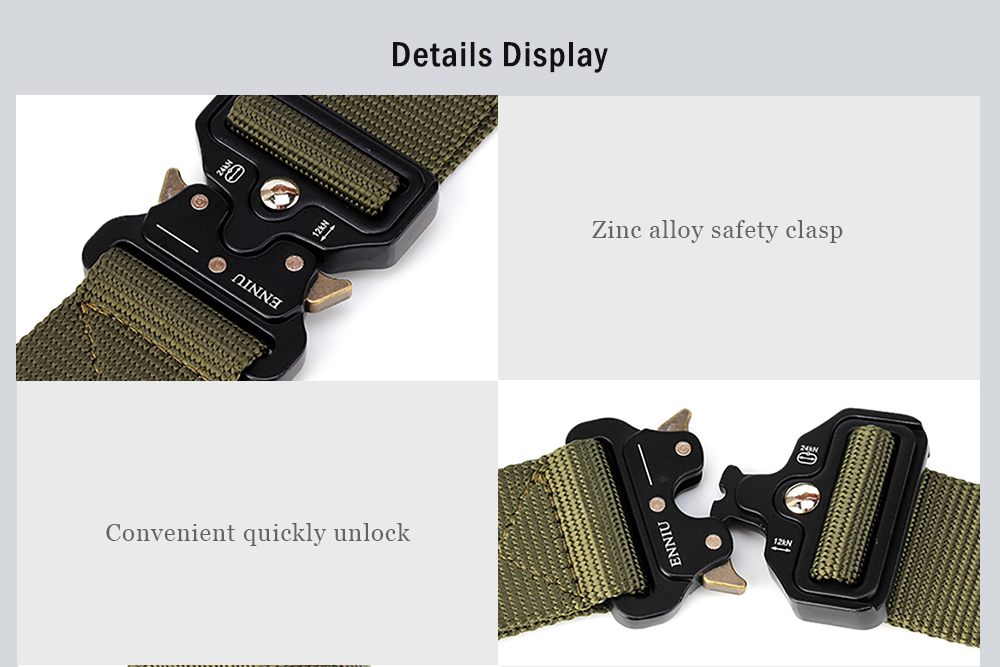 ENNIU Multi-Function Army Fan Outdoor Special Forces Training Nylon Belt